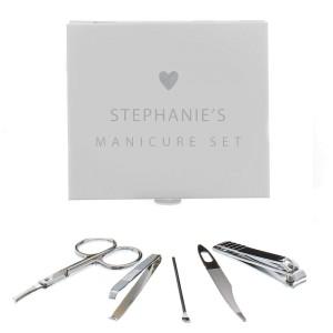 Personalised Heart Manicure Set