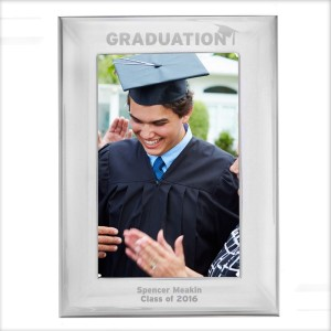 Personalised Graduation Silver 4x6 Photo Frame