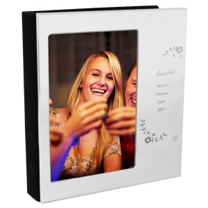 Personalised Vintage Floral 4x6 Photo Frame Album