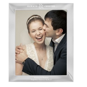 Personalised Always & Forever 10x8 Silver Photo Frame