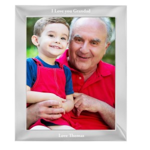 Personalised Any Message 8x10 Silver Photo Frame