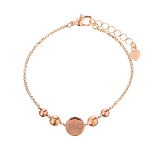 Personalised Rose Gold ToneInitials Disc Bracelet