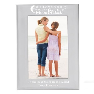 Personalised To the Moon and Back... 6x4 Silver Photo Frame