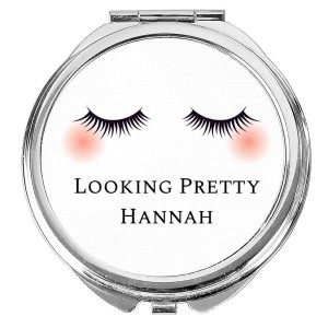 Personalised Eyelashes Compact Mirror