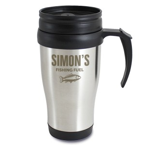 Personalised Fishing Travel Mug