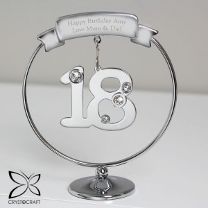 Personalised Crystocraft 18th Celebration Ornament