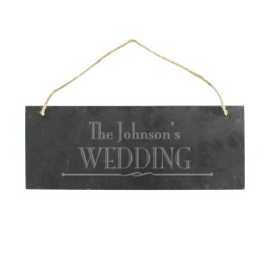 Personalised Wedding Hanging Slate Plaque
