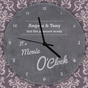 Personalised OClock Slate Clock