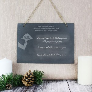 Personalised Waiter Hanging Large Slate Sign