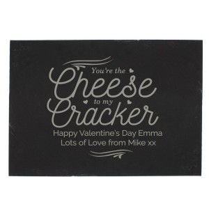 Personalised Cheese To My Cracker Slate Cheese Board