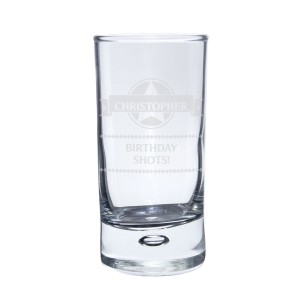Personalised Diamond Bubble Shot Glass