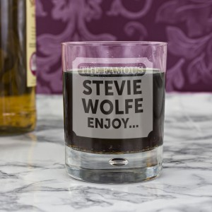 Personalised The Famous... Tumbler Bubble Glass