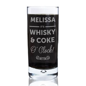 Personalised Its...O'Clock Hi Ball Bubble Glass