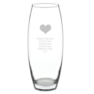 Personalised Heart Bullet Vase