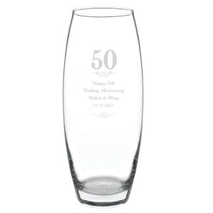 Personalised 50 Years Bullet Vase