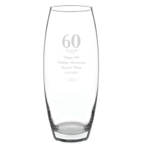Personalised 60 Years Bullet Vase