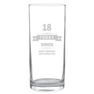 Personalised Birthday Star Hi Ball Glass
