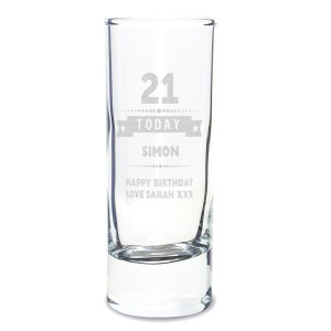 Personalised Birthday Star Shot Glass
