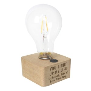 Personalised You Light Up My Life LED Bulb Table Lamp