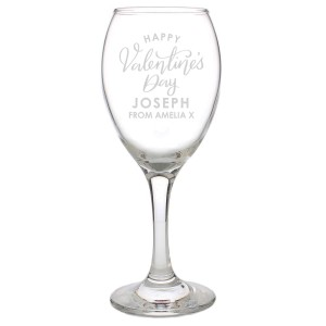 Personalised Valentine's Day Wine Glass