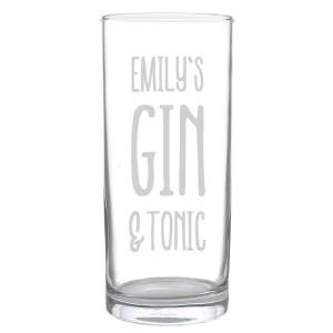 Personalised Gin & Tonic Hi Ball Glass