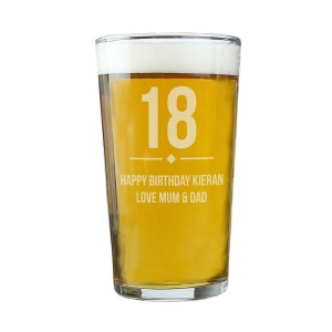 Personalised Big Age Birthday Pint Glass