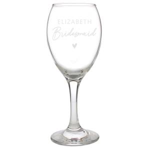 Personalised Bridesmaid Wine Glass