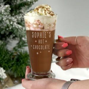 Personalised Stars Hot Chocolate Latte Glass