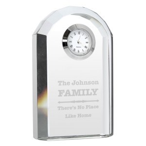 Personalised Scroll Design Crystal Clock