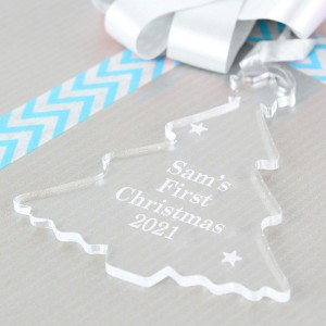 Personalised Acrylic Tree Decoration