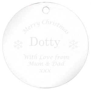 Personalised Acrylic Bauble Decoration