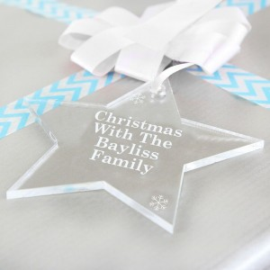 Personalised Acrylic Star Decoration