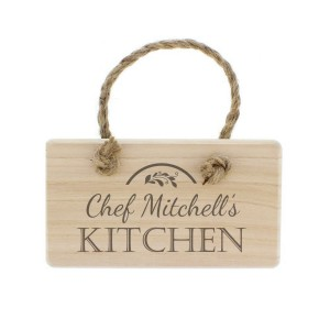Personalised Kitchen Wooden Sign
