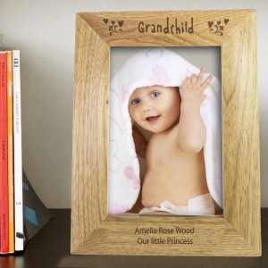 Personalised Grandchild 7x5 Wooden Photo Frame