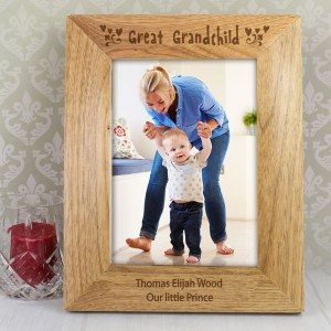 Personalised Great Grandchild 5x7 Wooden Photo Frame