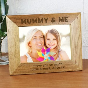 Personalised Bold Text 7x5 Landscape Wooden Photo Frame