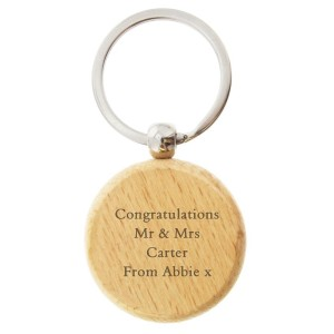 Personalised Wooden Keyring