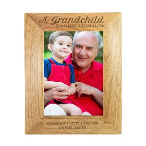 "Personalised ""A Grandchild is a Blessing"" 5x7 Wooden Photo Frame"