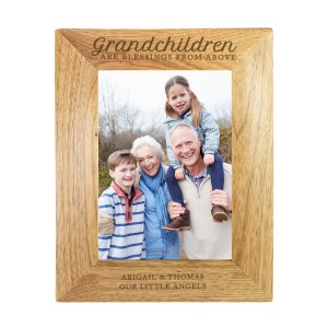 "Personalised ""Grandchildren are a Blessing"" 7x5 Wooden Photo Frame"
