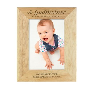 Personalised Godmother 5x7 Wooden Photo Frame