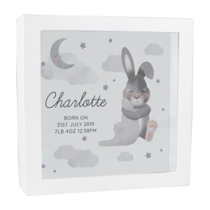 Personalised Baby Bunny Memory Keepsake Box