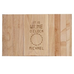 Personalised Its Wine O'Clock Wooden Sofa Tray