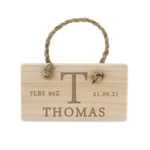 Personalised Initial Wooden Sign