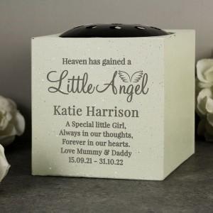Personalised Little Angel Memorial Vase