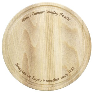 Personalised Plain Large Round Chopping Board