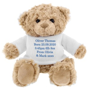 Personalised Message Teddy Bear - Blue