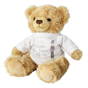 Personalised Fabulous Page Boy Teddy Bear