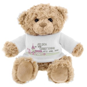 Personalised Pink Church Teddy Bear
