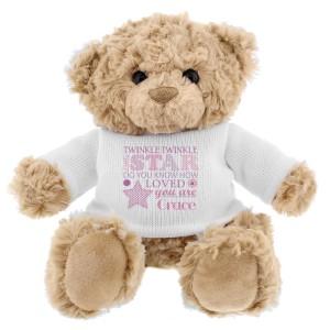 Personalised Twinkle Girls Teddy Bear