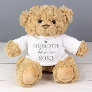 Personalised Born In Teddy Bear